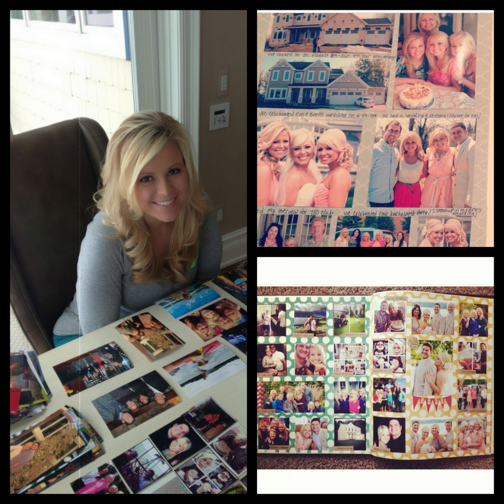 New Year's Scrapbook Tradition. Every year my sisters and I wake up on New Year's Day and scrapbook the memorable events of the previous year!