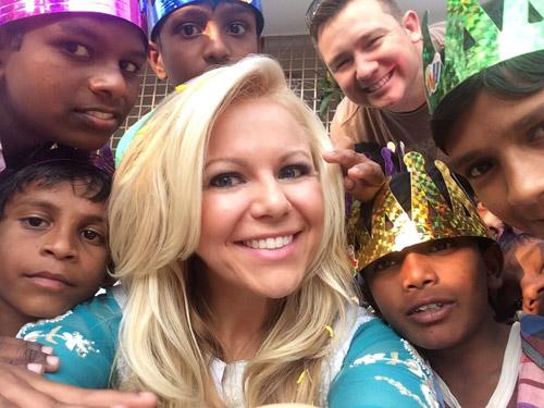 Sarah Robbins in India