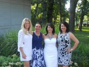 Stacey (left), Rose (middle right), and their upline team Prudy (middle left) and Vicki (right)